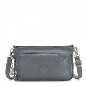 Kipling MYRTE Small 2 in 1 Crossbody and Pouch Steel Grey Metallic