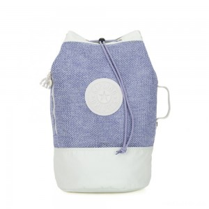 Kipling ETOKO Large drawstring bag with backpack straps Lilac Mesh Bl