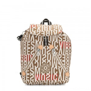 Kipling FUNDAMENTAL Medium backpack Studio Print