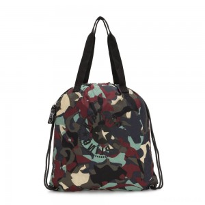 Kipling HIPHURRAY PACKABLE Medium Foldable Tote Bag Camo Large Light