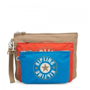 Kipling IAKA L WRISTLET Detachable Pouches with wristlet Sand Block