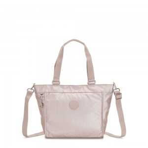Kipling NEW SHOPPER S Small Shoulder Bag With Removable Shoulder Strap Metallic Rose