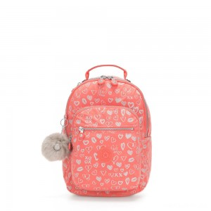 Kipling SEOUL GO S Small Backpack Hearty Pink Met