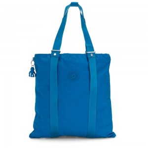 Kipling LOVILIA Medium Backpack Convertible to Handbag and Shoulderbag Methyl Blue