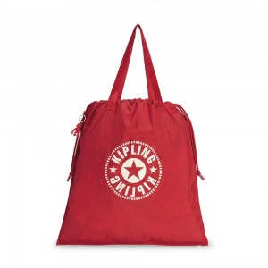 Kipling NEW HIPHURRAY L FOLD Foldable tote bag with drawstring Lively Red