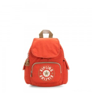 Kipling CITY PACK MINI City Pack Mini Backpack Funky Orange Block