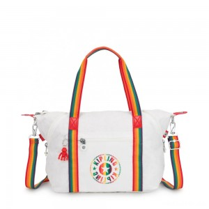 Kipling ART NC Lightweight Tote Bag Rainbow White