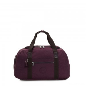 Kipling PALERMO Large Duffle Bag with Adjustable Backpack Straps Dark Plum