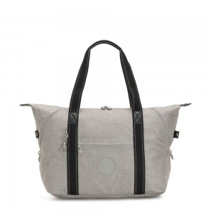 Kipling ART M Multi-use medium tote with trolley sleeve Chalk Grey