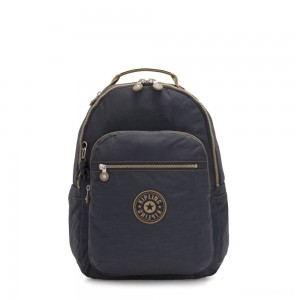 Kipling SEOUL Large backpack with Laptop Protection Night Grey Block