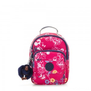 Kipling D ALBER Small 3-in-1 convertible: bum bag, crossbody or backpack Doodle Pink