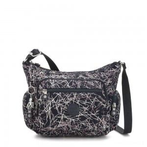 Kipling GABBIE S Crossbody Bag with Phone Compartment Navy Stick Print