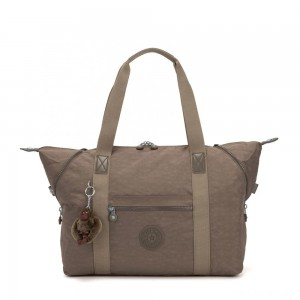 Kipling ART M Travel Tote With Trolley Sleeve True Beige