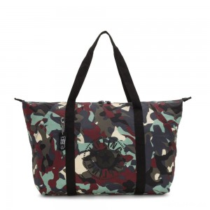 Kipling ART PACKABLE Large Foldable Tote Bag Camo Large Light