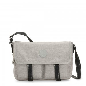 Kipling IKIN Medium Messenger Crossbody Bag Chalk Grey