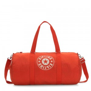 Kipling ONALO L Large Duffle Bag with Zipped Inside Pocket Funky Orange Nc