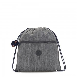 Kipling SUPERTABOO Medium Drawstring Bag Ash Denim Bl