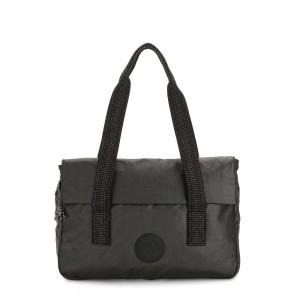Kipling PERLANI S Medium Laptop Bag with Trolly Sleeve Black Metallic