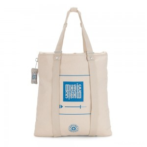 Kipling LOVILIA Medium Backpack Convertible to Handbag and Shoulderbag Start Music Print