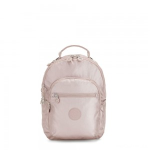 Kipling SEOUL S Small Backpack with Tablet Compartment Metallic Rose