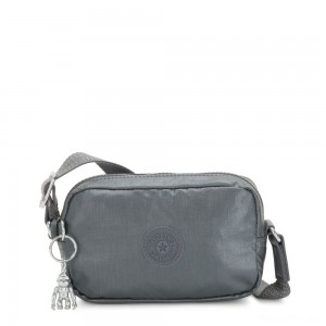 Kipling SOUTA Small Crossbody with Adjustable Shoulder Strap Steel Grey Gifting