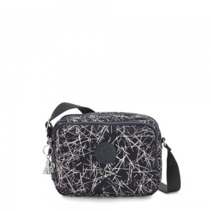 Kipling SILEN Small Across Body Shoulder Bag Navy Stick Print