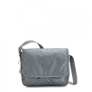 Kipling NITANY Medium Crossbody Bag Steel Grey Metallic