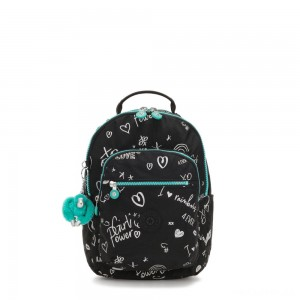 Kipling SEOUL GO S Small Backpack Girl Doodle