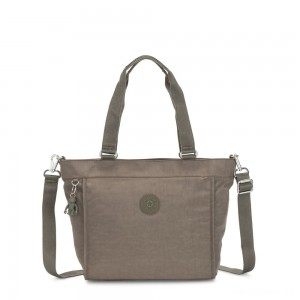 Kipling NEW SHOPPER S Small Shoulder Bag With Removable Shoulder Strap Seagrass