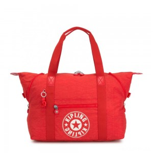 Kipling ART M Medium Tote Bag with 2 Front Pockets Active Red NC