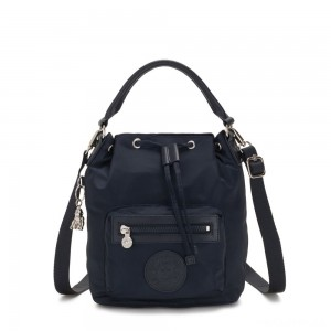 Kipling VIOLET S Small Crossbody Convertible to Handbag/Backpack True Blue Twill