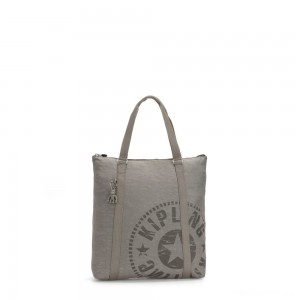 Kipling MORAL Large Tote Bag with Shoulder strap Rapid Grey