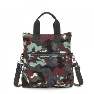 Kipling ELEVA Shoulderbag with Removable and Adjustable Strap Camo Large