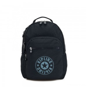 Kipling CLAS SEOUL Water Repellent Backpack with Laptop Compartment Lively Navy