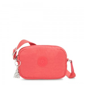 Kipling SOUTA Small Crossbody with Adjustable Shoulder Strap Papaya