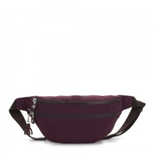 Kipling SARA Medium Bumbag Convertible to Crossbody Bag Dark Plum