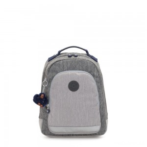 Kipling CLASS ROOM S Small backpack with laptop protection Ash Denim Bl