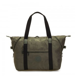 Kipling ART M Multi-use medium tote with trolley sleeve Satin Camo