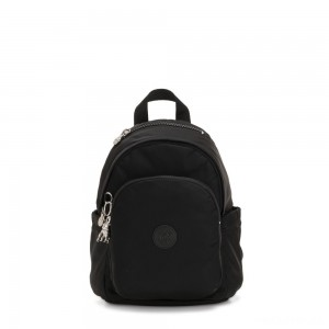 Kipling DELIA MINI Small Backpack with Front Pocket and Top Handle Galaxy Black