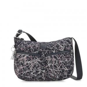Kipling IZELLAH Medium Across Body Shoulder Bag Navy Stick Print