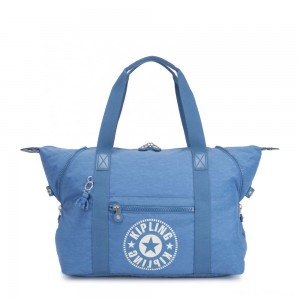 Kipling ART M Medium Tote Bag with 2 Front Pockets Dynamic Blue