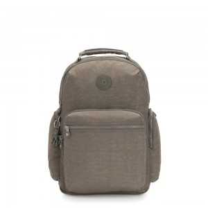 Kipling OSHO Large backpack with organsiational pockets Seagrass