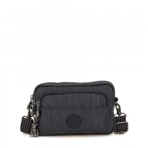 Kipling MULTIPLE Waist Bag Convertible to Shoulder Bag Active Denim