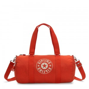 Kipling ONALO Multifunctional Duffle Bag Funky Orange Nc