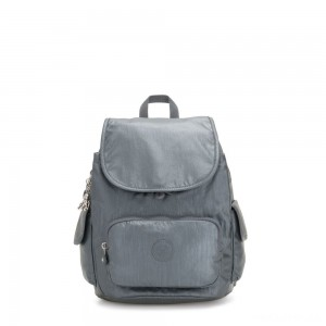 Kipling CITY PACK S Small Backpack Steel Grey Metallic