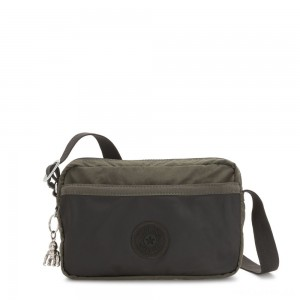 Kipling URSINA Small Crossbody with Shoulder strap Cold Black Olive