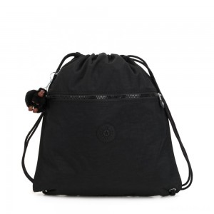 Kipling SUPERTABOO Medium Drawstring Bag True Black