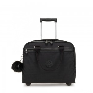 Kipling NEW CEROC Wheeled Working Bag with Laptop Protection True Dazz Black