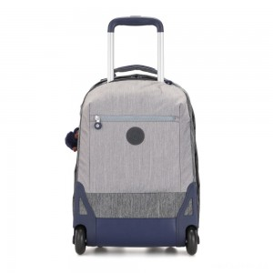 Kipling SOOBIN LIGHT Large wheeled backpack with laptop protection Ash Denim Bl