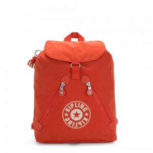 Kipling FUNDAMENTAL NC Backpack with 2 Zipped Pockets Funky Orange Nc